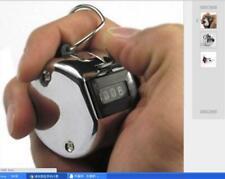 Metal 4 Digit Hand Tally Counter Chrome Manual Clicker Palm Golf Club