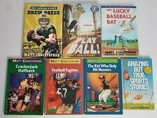 Lot of 7 Sports Children Books Set MATT CHRISTOPHER Baseball Football Holander