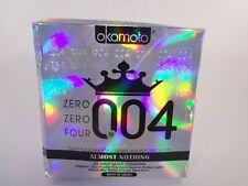 Okamoto Zero Zero Four 004 Almost Nothing 24 Male Latex Condoms 12-O