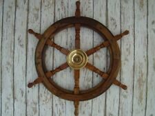 "Antique Maritime Vintage 24"" Wooden Ship Wheel Pirate Captain Decor Replica Gift"
