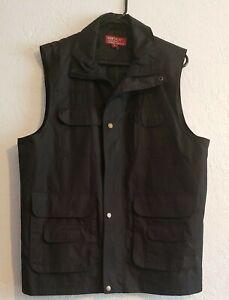 Men's Outdoors Tactical 8-Pocket Zip Vest size M Medium Black
