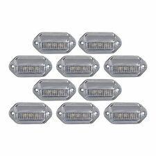 10 LED LICENSE PLATE TAG LIGHT CHROME BOAT TRAILER RV TRUCK INTERIOR STEP LIGHTS