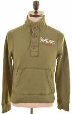 HOLLISTER Mens Sweatshirt Jumper Small Khaki Cotton  KQ17