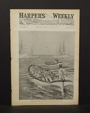Harper's Weekly Cover Pg Boat Racing in the Navy- The Finish 1891 A9#07