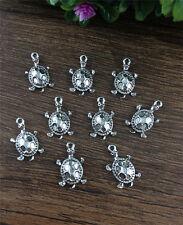 Wholesale 16pcs Tibet silver Turtles Charm Pendant beaded Jewelry Findings NEW