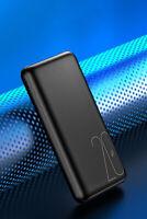 POWER BANK BATTERIA 20000MAH ORIGINALE USAMS® NERO 20A USB PORTATILE UNIVERSALE