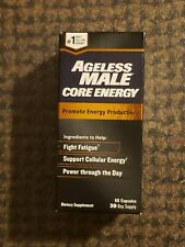 Ageless Male Core Energy 60 Capsules 30 Day Supply Promote Energy Production