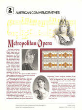 #198 20c Metropolitan Opera #2054 USPS Commemorative Stamp Panel