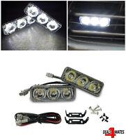 "3.5"" For Renault Dacia 3 Led White High Power DRL Daytime Running Lights Lamps"