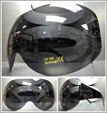 OVERSIZE EXAGGERATED VINTAGE RETRO SHIELD Huge VISOR Style SUN GLASSES Dark Lens