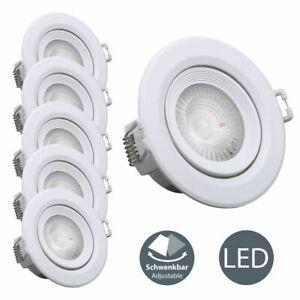 LED Einbau-Strahler 5er SET Decken-Spots Lampen 5W Einbau-Leuchte ultra-flach