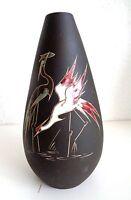 Ruscha Original Arno Kiechle Keramik Vase, zwei Reiher. Signiert und nummeriert