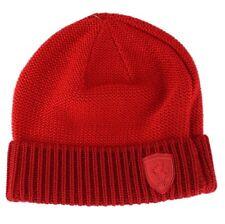 Puma Ferrari Rouge Beanie équipe de formule 1 Lifestyle Knitted Hat Taille unique