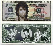 2016 Prince 1 Million Dollars Color Novelty Money Note Limited Edition Collect