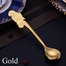 Dessert Stainless Steel Mermaid Coffee Spoons Ice Spoon Tea Scoops Tableware
