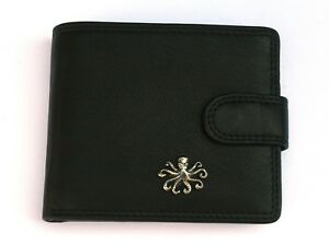Octopus S Mens Leather Wallet BLACK or BROWN Sea Life Gift 249