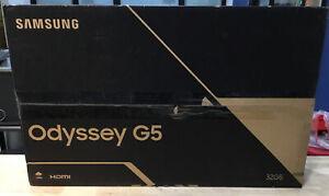 Samsung Odyssey G5 C32G55T QHD 2560x1440 144Hz 1ms 1000R Curved Monitor NEW