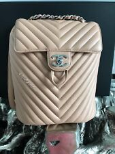 81fb00f6d36e5e CHANEL URBAN SPIRIT BEIGE CHEVRON CALFSKIN BACKPACK 2018 18S CAMEL TAN CALF  BNWT