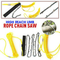 "High Reach Limb Rope-and-Chain Saw w/48"" Chain Branch Tree Saw Trimmer Rope Hot~"