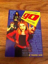 Go Movie Tower Records Postcard William Fichtner Katie Holmes Jay Mohr Unused