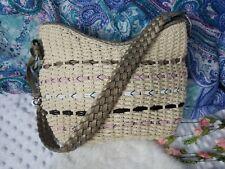 Brighton Purse Handbag Basket Bag Rattan Straw Woven Champage Gold Leather strap