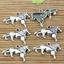 16pcs tibetan silver tone cartoon lion design charms EF1934