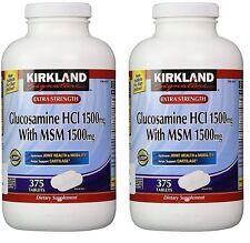 2X Kirkland Extra Strength Glucosamine HCI 1500mg,W/ MSM 1500mg, (750ct Total)