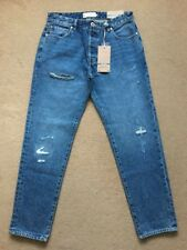 "NEXT Men's Tapered Blue Ripped & Repaired Denim Jeans, 32R, W32"" L31"", £40"
