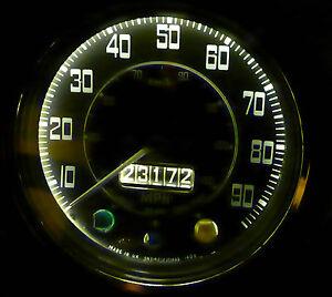 Triumph TR2 TR3 TR4 TR5 TR6 Spitfire LED Instrumentos Xenon Blanco x2