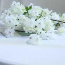 """4 White 40"""" tall Bushes with Silk Cherry Blossoms Flowers Party Wedding Bouquets"""