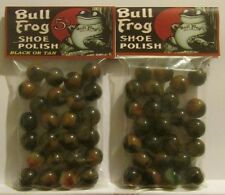 2 Bags Of Bull Frog Shoe Polish Promo Marbles