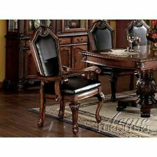 Acme 10039 Chateau De Ville Cherry Wood Arm Chair Set of 2