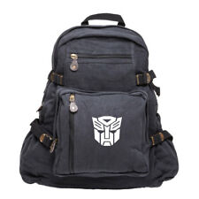 Transformers Robots in Disguise Autobot Logo Canvas School Backpack Book Bag