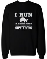 I'm Slower than a Turtle Funny Workout Sweatshirt Gym Pullover Fleece Sweater
