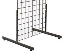 T Grid Gridwall Slatgrid Panel Legs Stand Display Lot Of 5 Sets Of 2 Black New