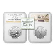 Tokelau 2014 Pegasus $5 1 oz Silver NGC PF69 Matte with COA