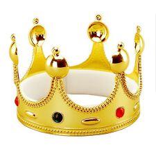 Niño Adulto rey y Reina Corona dorada BODA REAL Gema Accesorio de disfraz