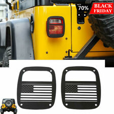 Metal Tail Light Guards Covers Fit Jeep Wrangler Tj 1997 2006 Accessories Usflag Fits Jeep