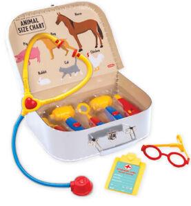 Childs VETERINARIAN KIT Dr Doctor Nurse Bag Medical Stethoscope Pretend Play Set