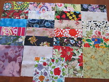 25 x 5' CHARM SQUARES  DIFFERENT FLOWERS 100% Cotton Fabric Sewing Material N12