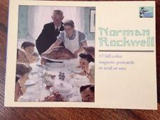 Norman Rockwell Book Of 12 Magnetic Postcards