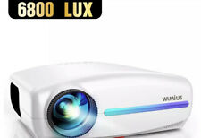 WiMiUS Native 1080P Projector Upgraded 6800 Lumens Full HD 1920x1080P Video P...