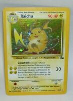 Rare Holo Pokemon Card Raichu  14/62 1999 Wizards