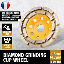 """1pc Diamond simple rangée de Meulage Meule boisseau pour béton maçonnerie dia 4/"""" 4.5/"""" 5/"""""""