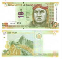 UNC New Value 20 Soles 2016 P-193 Peru
