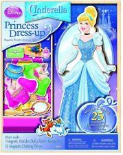 Disney Cinderella & Sophia Magnetic Wooden Dress-Up Doll w/ Storage Box 2 SETS