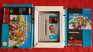SUPER MARIO KART COMPLETE BOXED AND TESTED SUPER NINTENDO SNES PAL VERSION