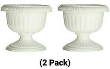 12 Inch Plastic Round Grecian Urn Planter Flower Pot