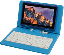 Tablet Pc 7 Inch Android Quad Core Tablet Computer With Keyboard Dual Blue