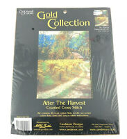 Candamar Designs Counted Cross Stitch Kit After the Harvest Gold Collection